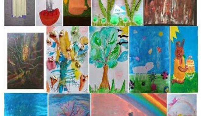 """Foto: Expoziție virtuală la Galeria """"Virgil Coman"""". O fetiță de 4 anișori, cea mai mică artistă"""