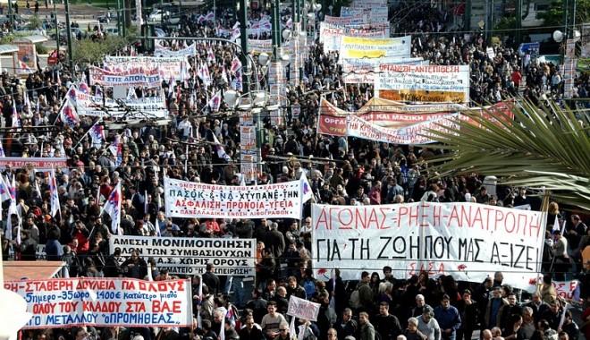 Foto: Transporturile în Atena, blocate și astăzi din cauza protestelor