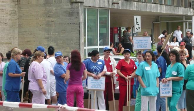 """Foto: """"Trebuie să susținem greva din sănătate!"""""""