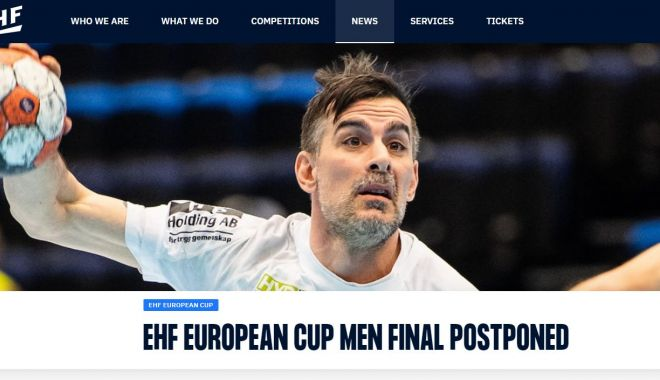 Handbal / Prima manşă a finalei EHF European Cup, amânată. Cazuri de Covid-19 la Ystads IF - handbalcovid-1620974137.jpg