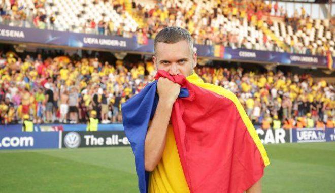 Foto: George Pușcaș, inclus de UEFA în echipa ideală a Campionatului European de tineret