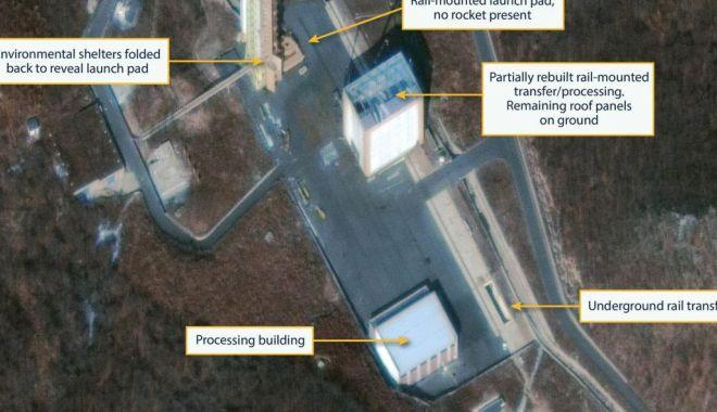 Foto: Imagini prin satelit. Coreea de Nord reconstruiește o bază de lansare a rachetelor