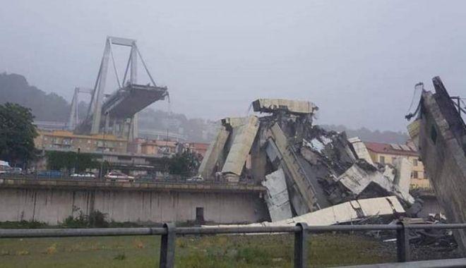 Un pod-autostradă, înalt de 100 de metri, s-a prăbușit în Genova.  Autoritățile încearcă să găsească eventuali supraviețuitori - img-1534249923.jpg
