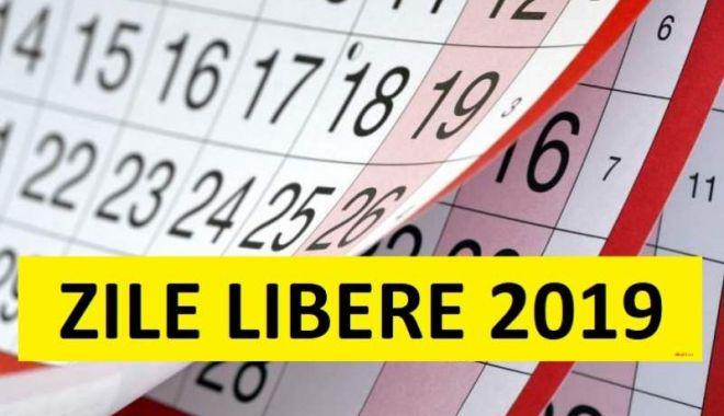 Foto: ZILE LIBERE 2019. O nouă minivacanță pentru salariați, în această lună