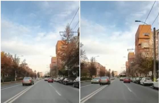 VIDEO INCREDIBIL! Un șofer este filmat cum gonește pe contrasens și lovește o mașină - img-1574150283.jpg