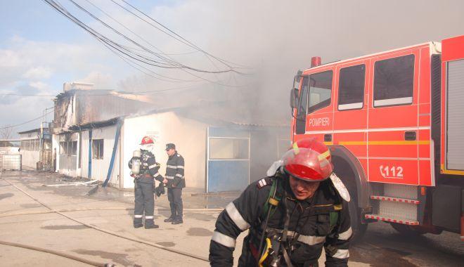 Foto: Case cuprinse de flăcări, în miez de noapte, în județul Constanța