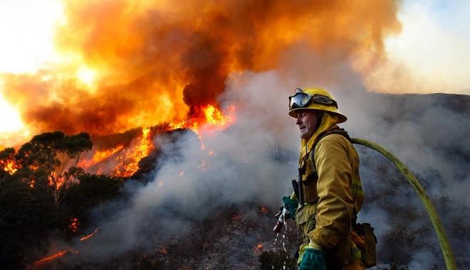 Foto: Incendiu puternic în Nuntași. Pompierii se află la fața locului!