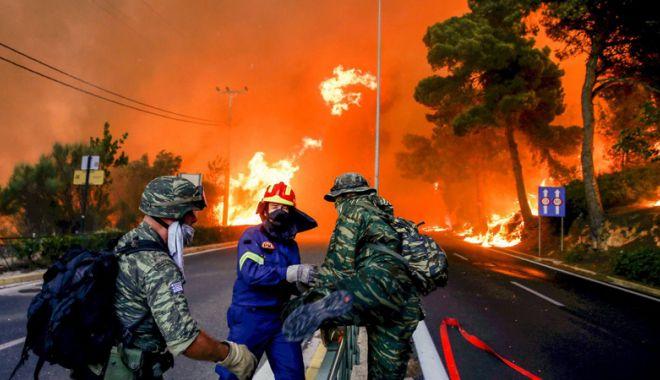 Foto: Incendii în Grecia: Un nou bilanț  anunță cel puțin 91 de morți