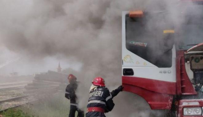 Foto: Intervențiile în caz de incendiu pentru obiectivele CN APM SA Constanța sunt asigurate de serviciile specializate