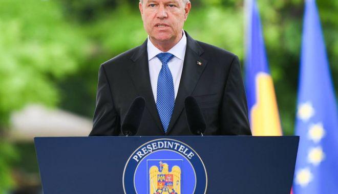 """Foto: Klaus Iohannis: """"Un guvern demis nu poate propune un comisar european"""""""