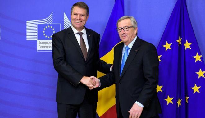 Foto: Iohannis, la întâlnirea cu Jean Claude Juncker: Poziția României va continua să fie de susținere a proiectului european