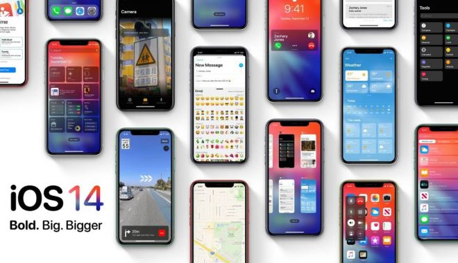 Foto: Apple a lansat prima versiune beta de iOS 14