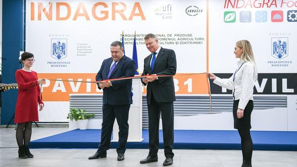 Foto: Klaus Iohannis și Mihai Daraban au inaugurat Târgul Internațional INDAGRA