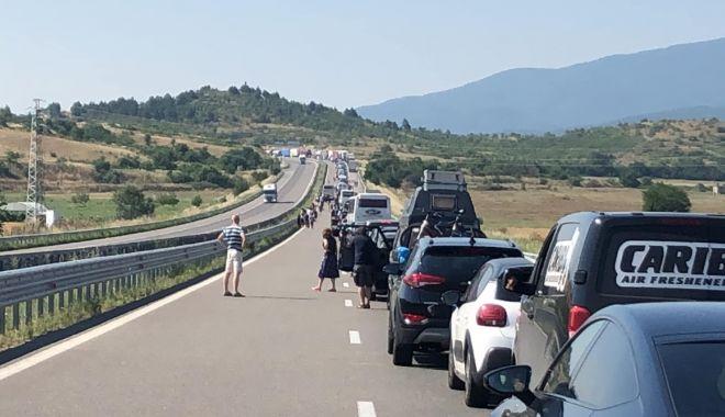 Foto: Vama Kulata spre Grecia, blocată de protestatari bulgari