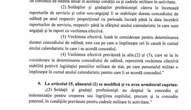 Informații de ULTIMĂ ORĂ privind statutul soldaților și gradaților profesioniști. Aviz favorabil în Comisia de Apărare! - lmp3-1571830328.jpg