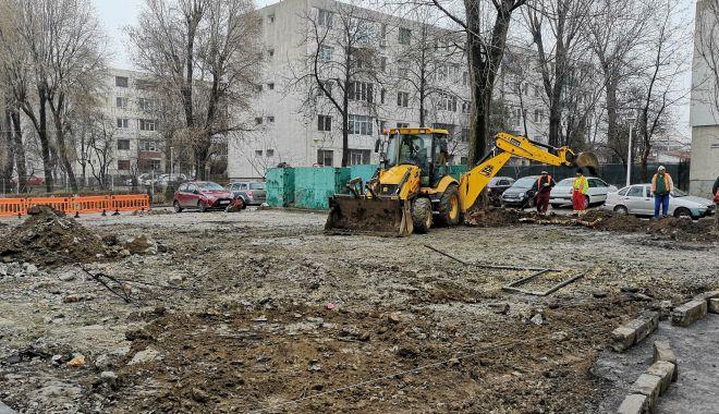 Foto: Noi locuri de parcare pentru constănțeni, în zona Școlii nr. 39