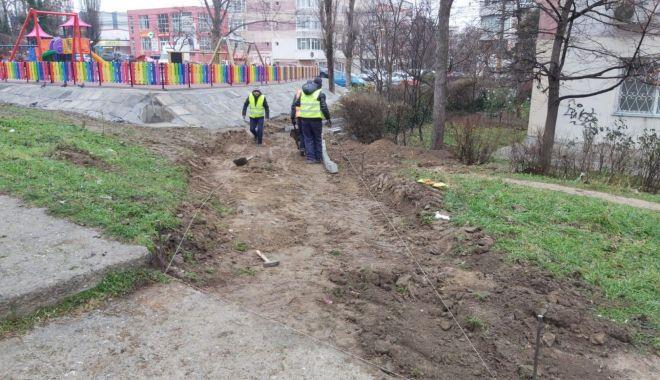 Foto: Confort Urban realizează lucrări edilitare pe strada Adamclisi
