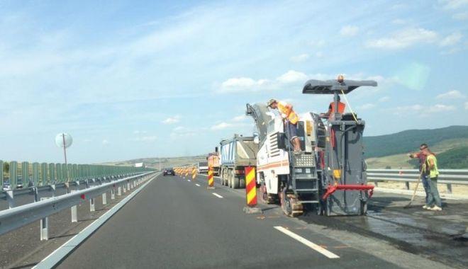 Foto: Șoferi, atenție! Unde se lucrează azi, pe Autostrada Soarelui