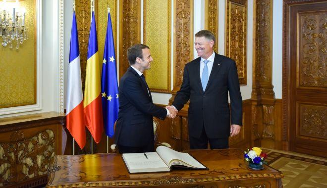 Foto: Franța o va susține pe Kovesi la Parchetul European. Discuția dintre Iohannis și Macron