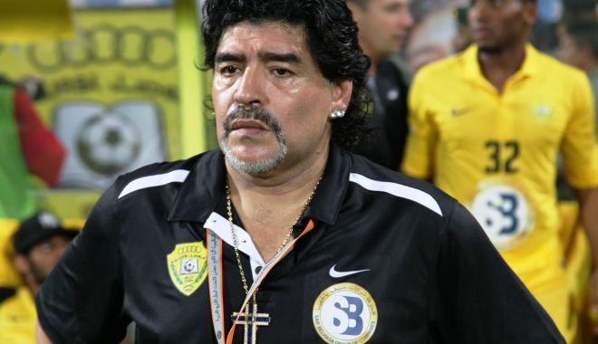 Foto: Diego Armando Maradona nu vrea să se despartă de clubul său