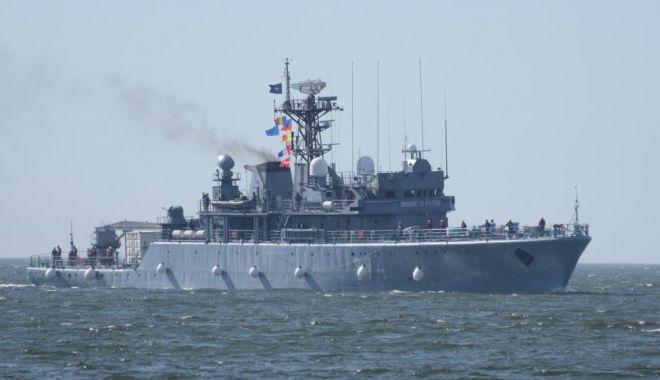 Foto: Predarea comenzii Grupării Navale NATO condusă de Forțele Navale Române