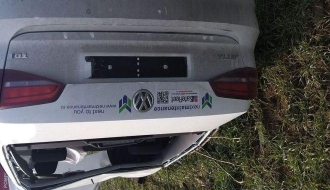 VIDEO / Accident grav la Constanța. Mașină răsturnată din cauza vitezei - masinarasturnata-1580463708.jpg