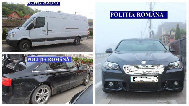 Foto: Mașini căutate de autoritățile britanice, descoperite în România