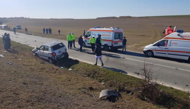 Foto: Grav accident rutier, cu cinci victime, în județul Constanța. Iată care a fost cauza