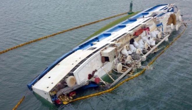 Foto: Catastrofa navală din portul Midia. Precizări de ULTIMĂ ORĂ de la Administrația Porturilor