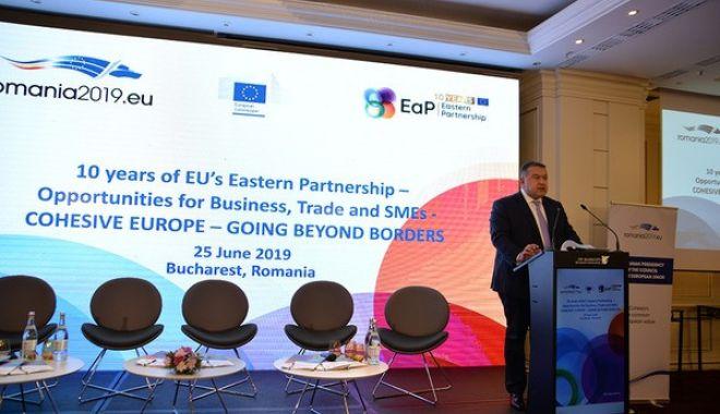 """Foto: """"Dezvoltarea infrastructurii, esențială pentru creșterea schimburilor comerciale dintre UE și țările din Parteneriatul Estic"""""""