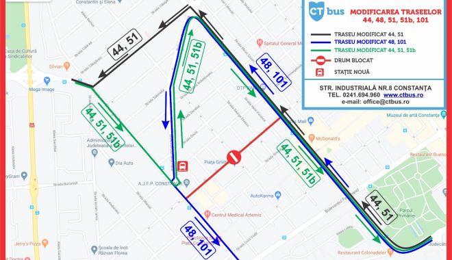 GALERIE FOTO / Atenție, șoferi! 7 artere rutiere din municipiu își schimbă regimul de circulație - modificaretraseectbus-1596273581.jpg