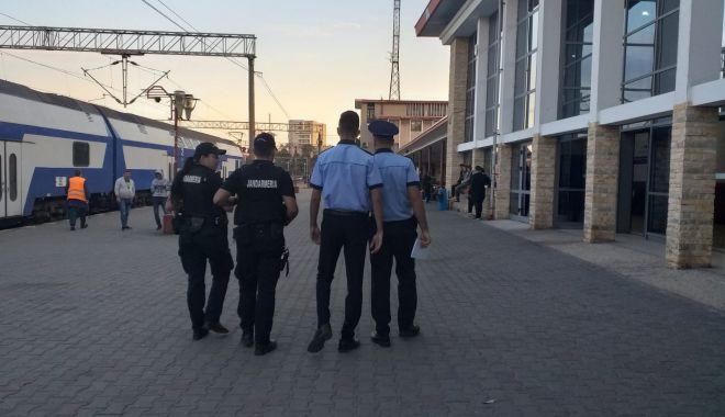 Foto: Polițiștii de la Transporturi Constanța, lăudați de o călătoare