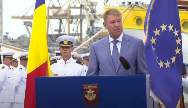 Foto: Klaus Iohannis: Forțele Navale Române sunt parte importantă a Armatei României