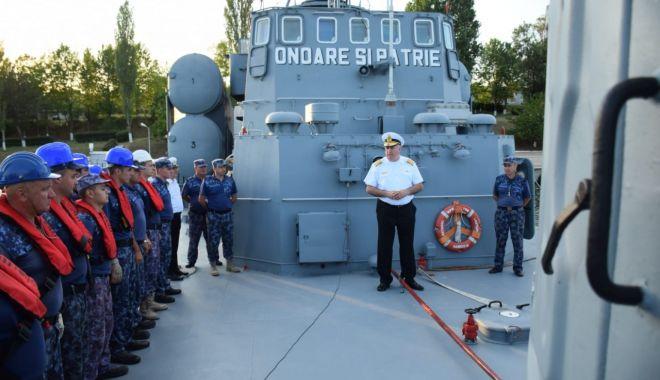 """Foto: Trei nave militare românești, la exercițiul """"Sea Breeze 19"""", pe Marea Neagră"""