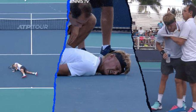 Foto: Imagini de coșmar la turneul de la Miami. Un tenisman s-a prăbușit pe teren
