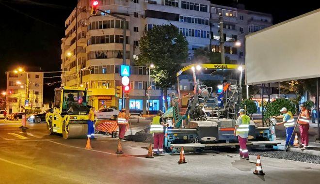 Foto: Noi lucrări de asfaltare pe bulevardul Tomis
