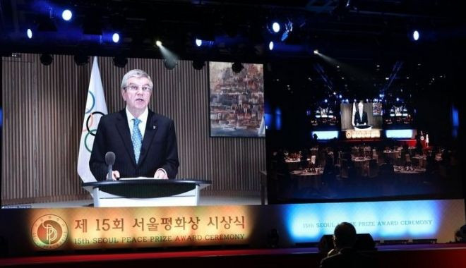Olimpism / Thomas Bach va dona cei 200.000 de dolari primiţi o dată cu Premiul Seoul pentru Pace - olimpism-1604049960.jpg