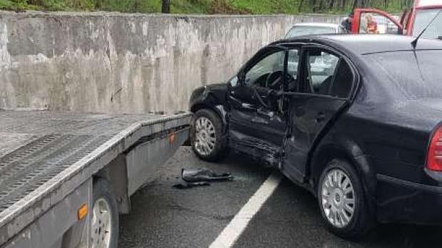 Foto: Polițist accidentat în timp ce efectua cercetări la un alt eveniment rutier