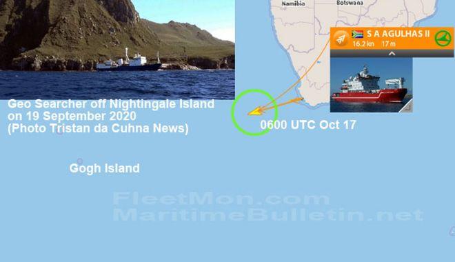 O navă s-a scufundat în Atlanticul de Sud. Ce s-a întâmplat cu echipajul - onavadecercetaresascufundatinatl-1603091520.jpg