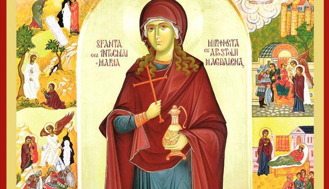Foto: Ortodocșii o cinstesc pe Sfânta Mironosiță Maria Magdalena