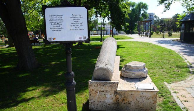 Foto: Primăria Constanța montează plăcuțe cu informații despre vestigiile vechiului Tomis