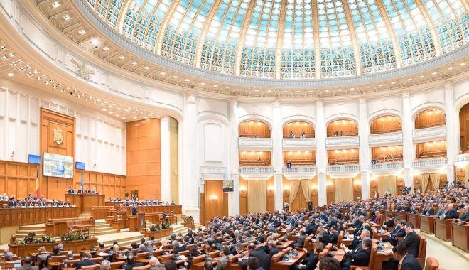 Foto: Parlament / Ședința de astăzi în care era programată citirea moțiunii - suspendată