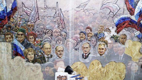 Foto: Rusia a anulat planurile de instalare a mozaicului cu Vladimir Putin într-o catedrală a armatei