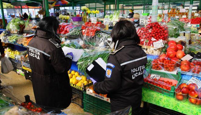 Foto: Piețele agroalimentare sunt verificate în această perioadă de Poliția Locală