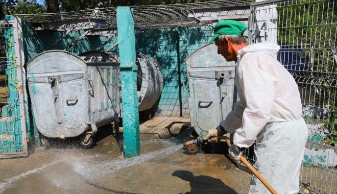 Foto: Platformele de deșeuri sunt dezinfectate zilnic
