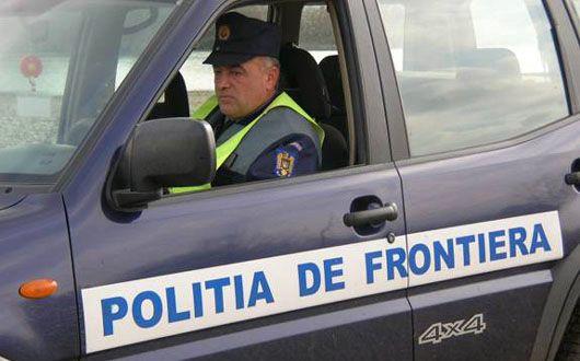 Foto: Bărbat reținut de polițiștii de frontieră, după ce a fugit, beat, cu mașina