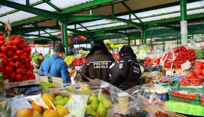 Foto: Poliția Locală verifică, în această perioadă, piețele agroalimentare din Constanța