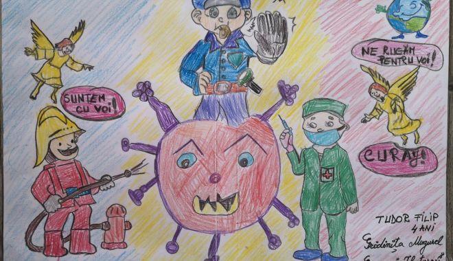 Polițiștii, jandarmii, pompierii și cadrele medicale, eroi în ochii copiilor - politistielevisursaipjconstanta1-1586196360.jpg