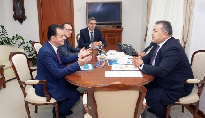 Foto: Premierul desemnat, Ludovic Orban, s-a întâlnit cu Mihai Daraban – președintele CCIR
