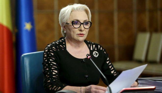 """Foto: Premierul Viorica Dăncilă: """"Blocarea Executivului nu ajută stabilitatea țării"""""""